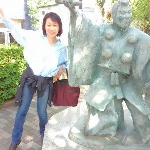 人形町の弁慶像